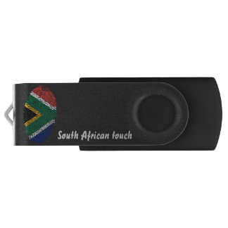 South African touch fingerprint flag USB Flash Drive