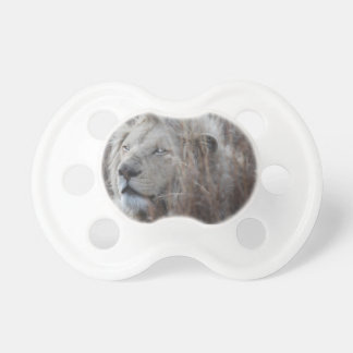 South African White Lion close up Pacifier