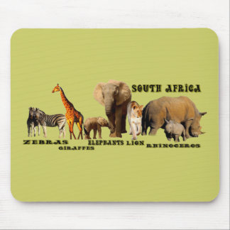South African Wildlife Collage Mouse Pad