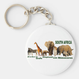 South African Wildlife Keychain