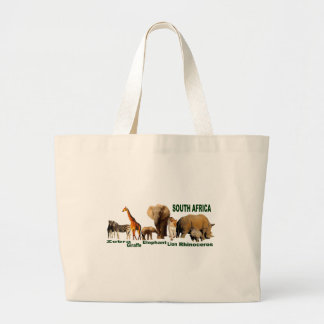 South African Wildlife Large Tote Bag