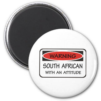 South African With An Attitude 2 Inch Round Magnet