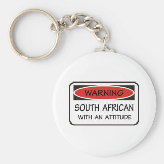 South African With An Attitude Basic Round Button Keychain