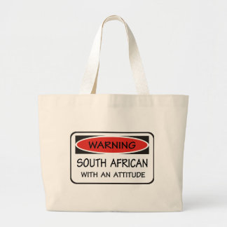 South African With An Attitude Jumbo Tote Bag