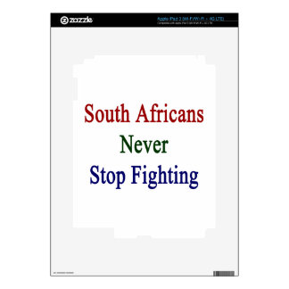 South Africans Never Stop Fighting iPad 3 Decals
