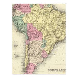 South America 12 Postcard