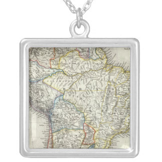 South America 17 Square Pendant Necklace