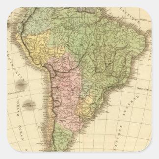 South America 20 Square Stickers