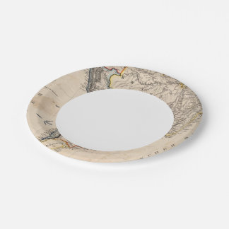 South America 25 7 Inch Paper Plate