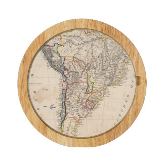 South America 25 Round Cheese Board