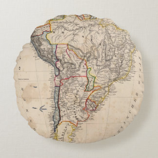 South America 25 Round Pillow