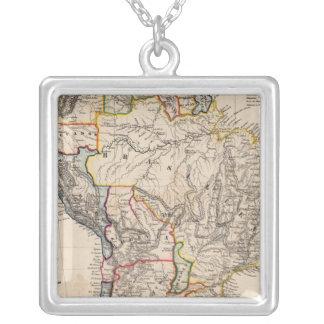 South America 25 Square Pendant Necklace