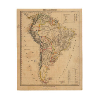 South America 25 Wood Wall Art