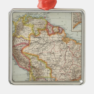 South America 2 Metal Ornament