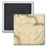 South America 4 2 Inch Square Magnet