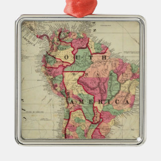 South America 4 Metal Ornament
