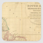 South America 5 Square Sticker