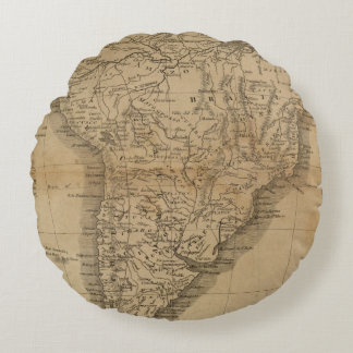 South America 8 Round Pillow