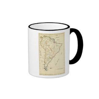 South America 9 Ringer Coffee Mug