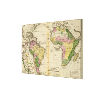 South America, Africa Canvas Print