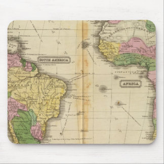 South America, Africa Mouse Pad