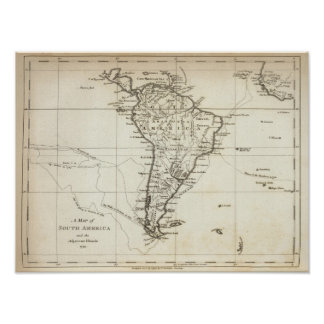 South America and the Adjacent Islands Poster