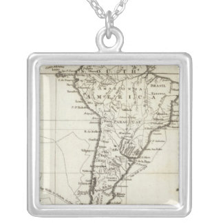South America and the Adjacent Islands Silver Plated Necklace