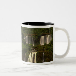 South America, Argentina, Brazil, Igwacu Falls, Two-Tone Coffee Mug