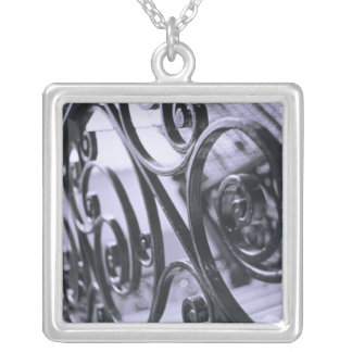 South America, Argentina, Buenos Aires. Hotel Square Pendant Necklace