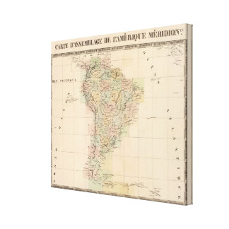 South America Assembly Map Canvas Print