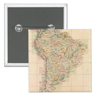 South America Assembly Map Pinback Button