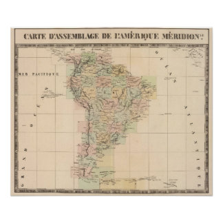 South America Assembly Map Poster