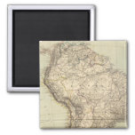 South America Atlas Map 2 Inch Square Magnet