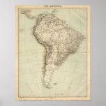 South America Atlas Map Poster