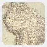 South America Atlas Map Square Sticker