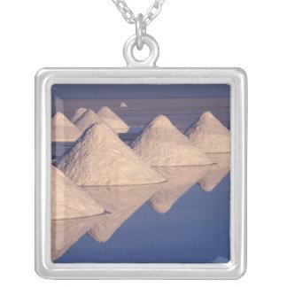 South America, Bolivia. Salar de Uyuni Silver Plated Necklace