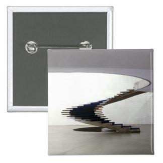 South America, Brazil, Brasilia. Interior 2 Inch Square Button