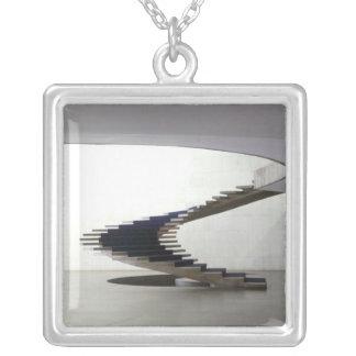 South America, Brazil, Brasilia. Interior Silver Plated Necklace