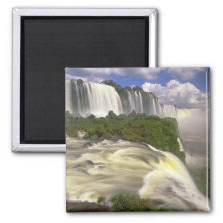 South America, Brazil, Igwacu Falls. Glorious 2 Inch Square Magnet