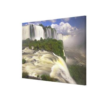 South America, Brazil, Igwacu Falls. Glorious Canvas Print