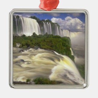 South America, Brazil, Igwacu Falls. Glorious Metal Ornament