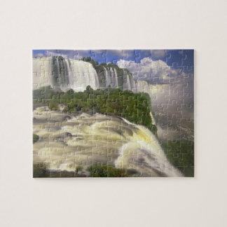 South America, Brazil, Igwacu Falls. Glorious Puzzle
