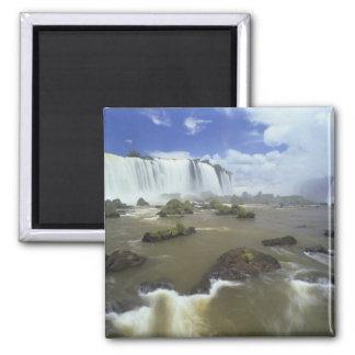 South America, Brazil, Igwacu Falls. Towering Magnet