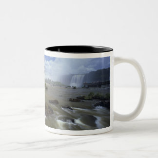 South America, Brazil, Igwacu Falls. Towering Two-Tone Coffee Mug