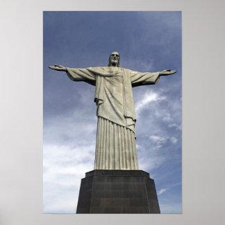 South America, Brazil, Rio de Janeiro. Christ Poster