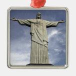 South America, Brazil, Rio de Janeiro. Christ Square Metal Christmas Ornament
