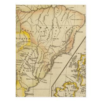 South America, British Isles Postcard