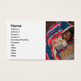 South America Children, South American Child, Baby Business Card
