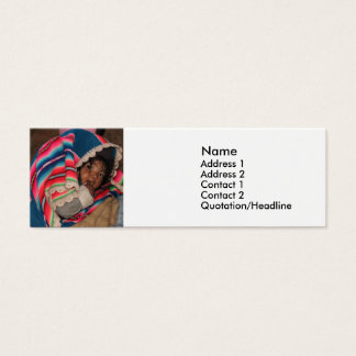 South America Children, South American Child, Baby Mini Business Card