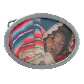 South America Children, South American Child, Baby Oval Belt Buckle